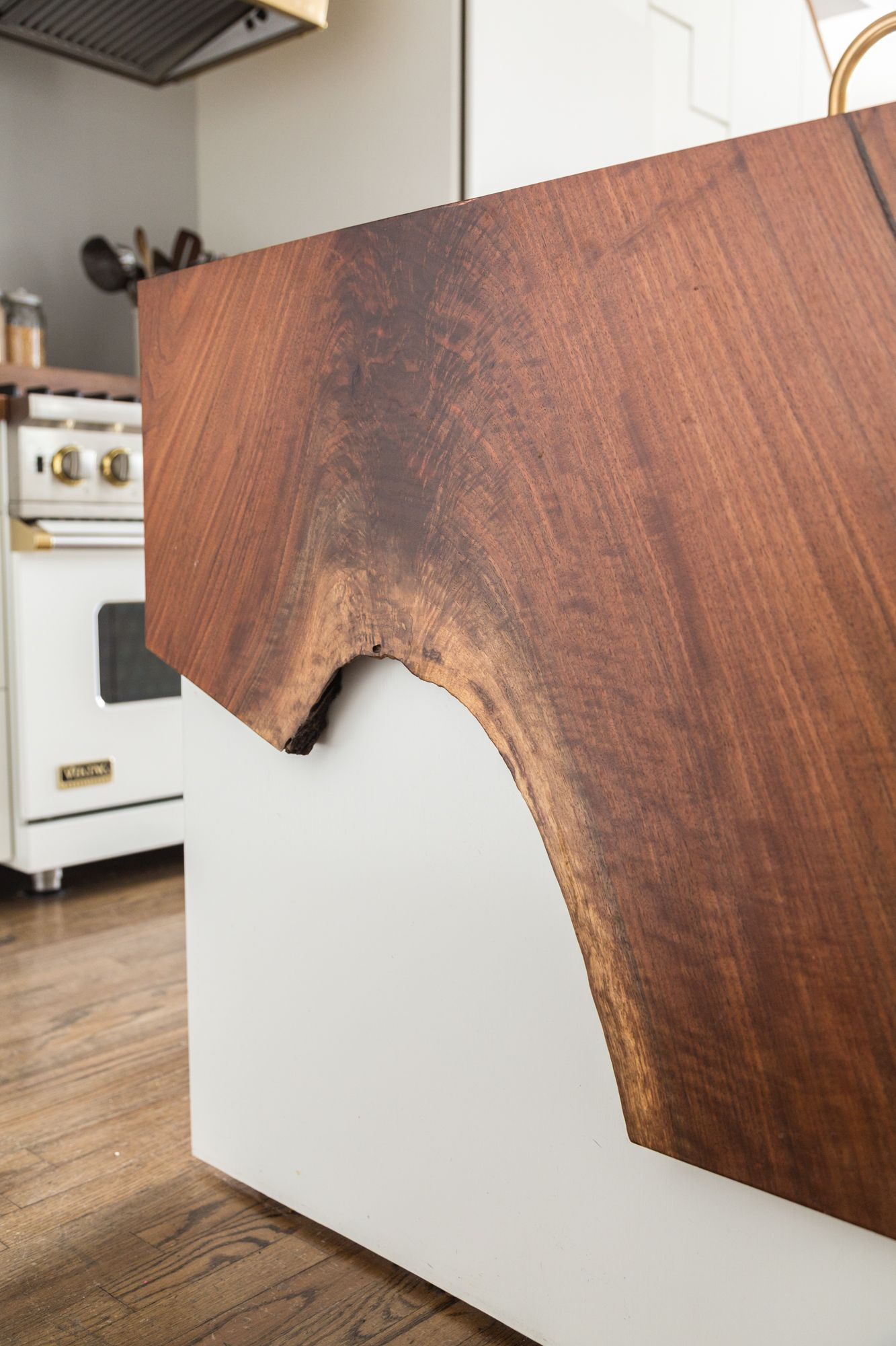You Really Need To See The Raw Edge Wood Waterfall Counter In This