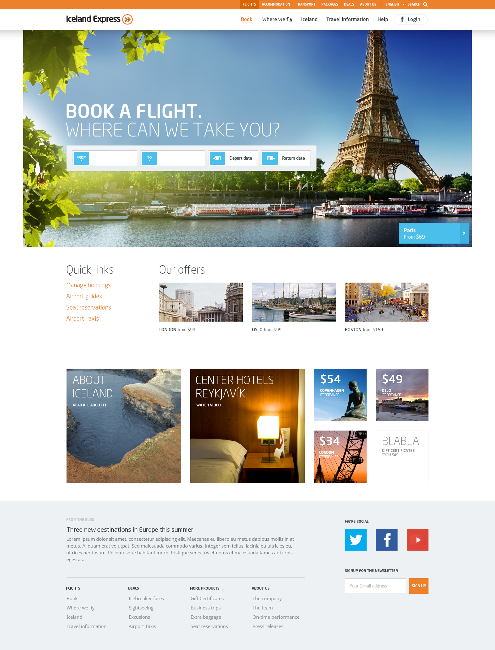 Web Inspiration 2.0 - Iceland Express - great colors and ...