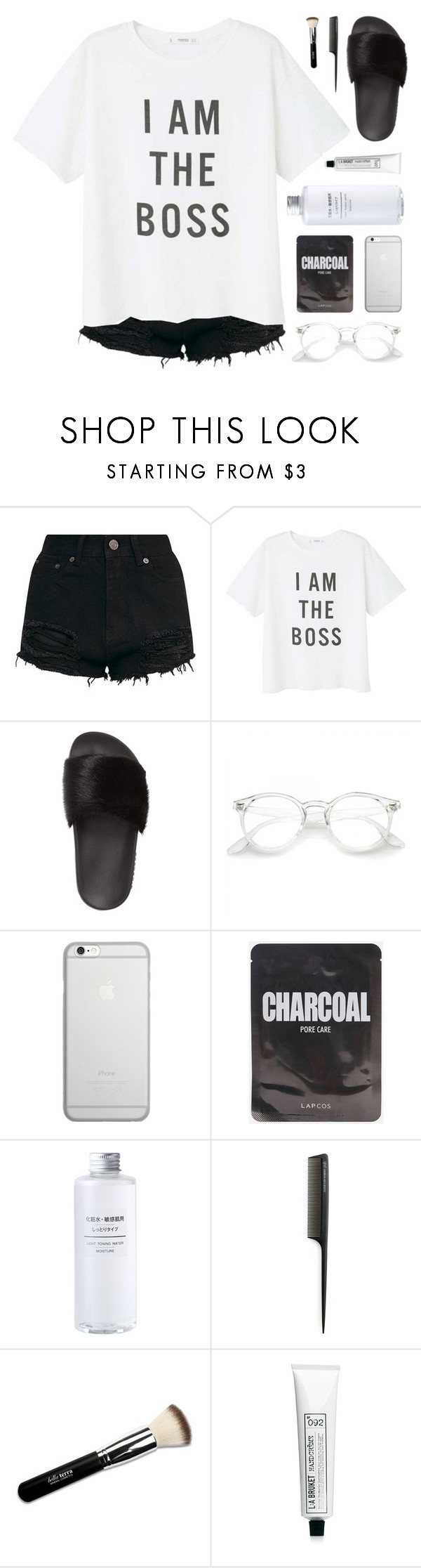 """""""i am the boss"""" by sipoczanna ❤ liked on Polyvore featuring MANGO, Givenchy, Native Union, GHD and L:A Bruket"""