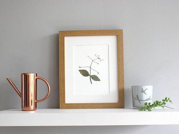 A Handmade Modern Pressed Flower Picture Size 10x8 Inches Including Off White Mount Board Mount Frame Not Included But Flower Artwork Pressed Flowers Artwork