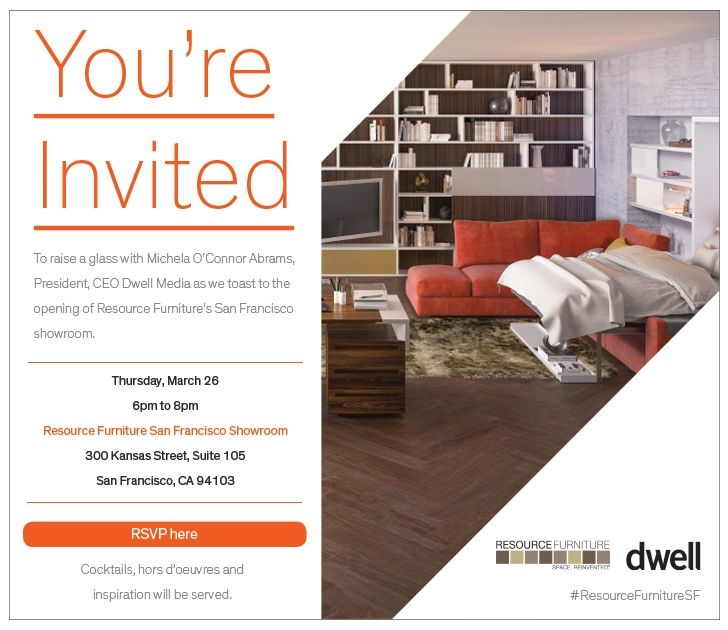 Youu0027re Invited to the Grand Opening of Resource Furnitureu0027s Showroom - best of formal business invitation card
