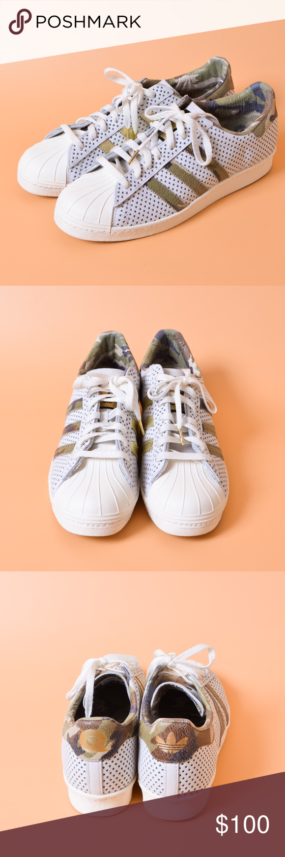 4a4050adaacf Adidas Superstar 80s Quickstrike Q16292 White Camo New with out tag and  box. Complex s Quickstrike