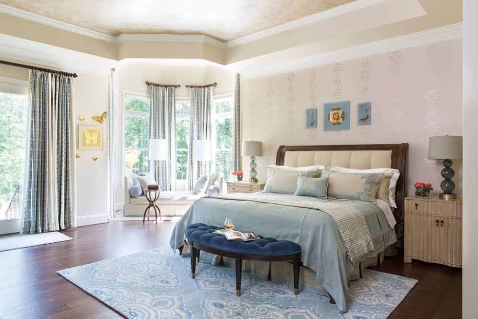 Riverside Retreat Main Bedroom Classic Style Bedroom By Lorna Gross Interior Design Classic Homify Furniture Placement Classic Bedroom Furniture