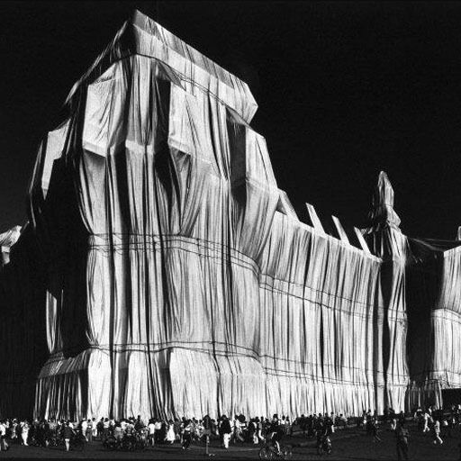 """Wrapped Reichstag"" by Christo and Jeanne-Claude photo: Elliott Erwitt, Germany. Berlin. 1995."