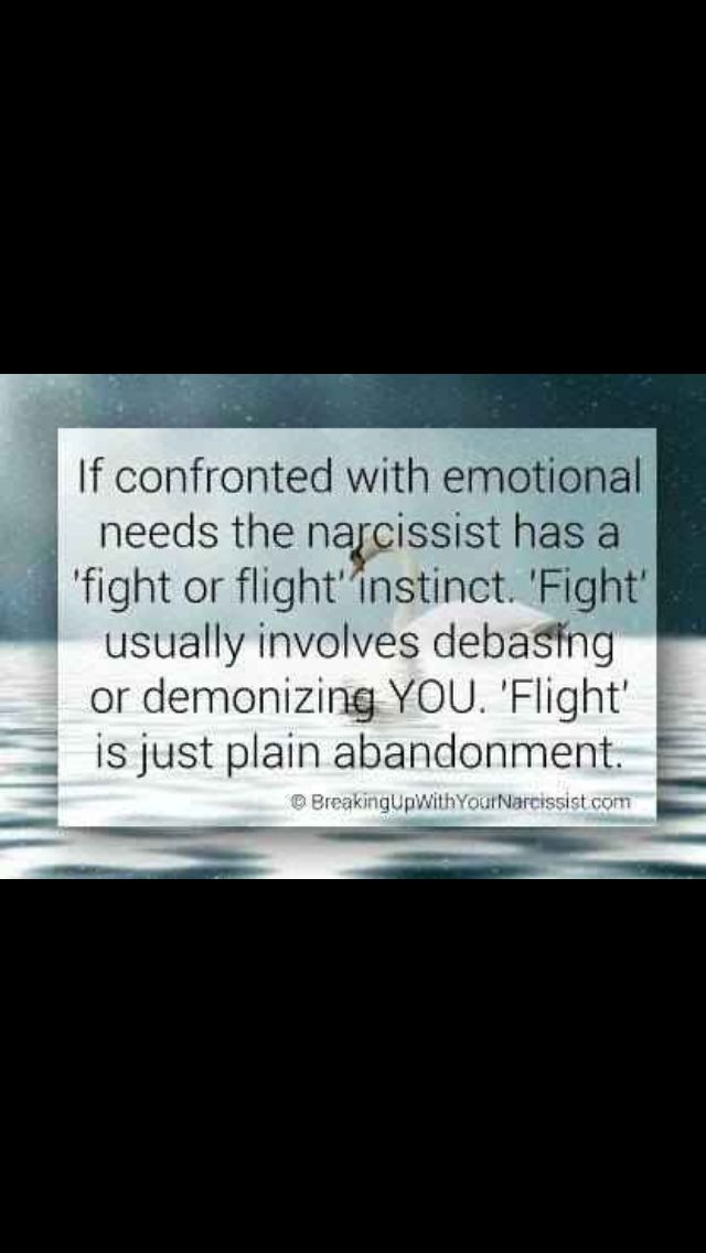 Fight or Flight response in the narcissist  | Narcissist