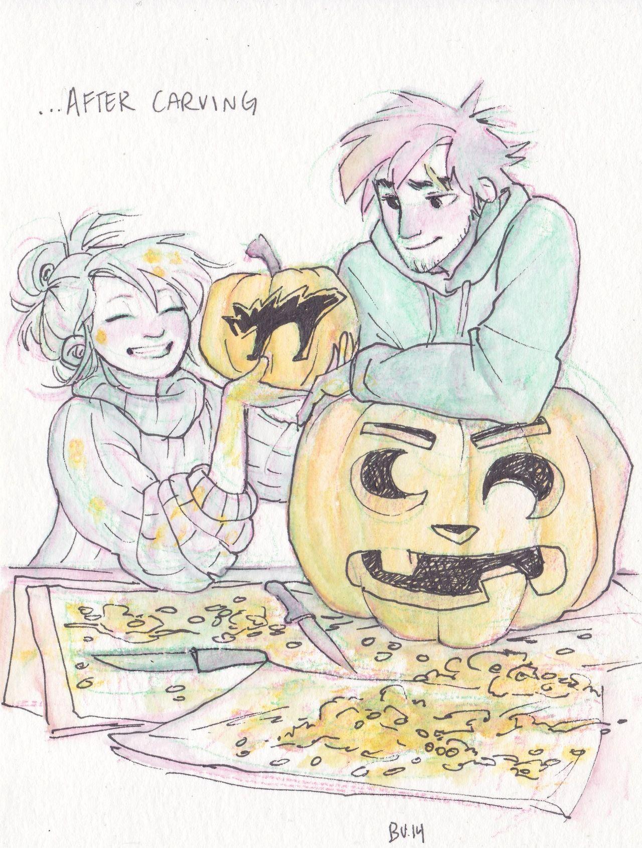 Blosper Hallowe'en, carving pumpkins (p2/2)
