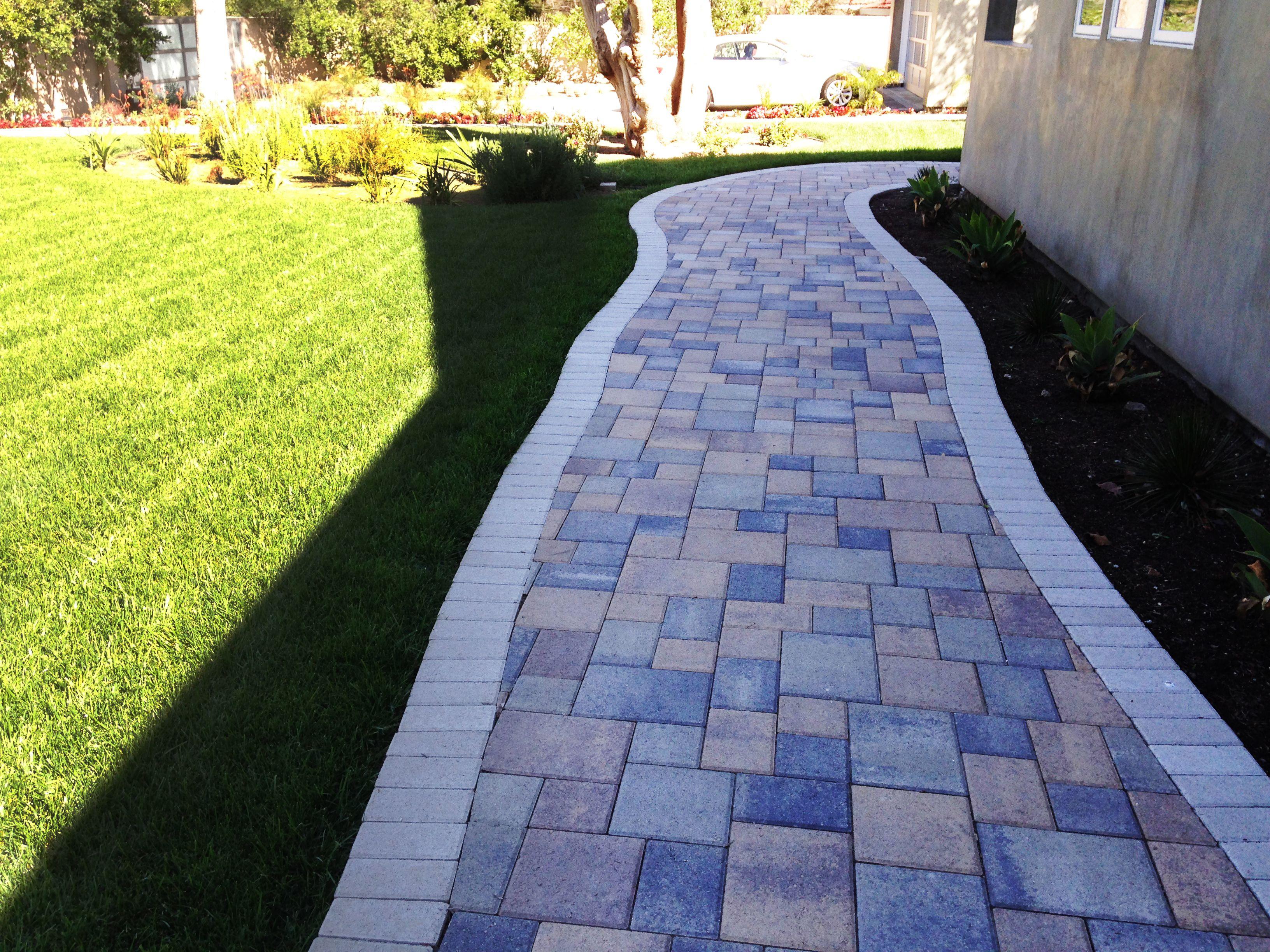 New Colorful Walkway Driveway Pavers Brick Stonework