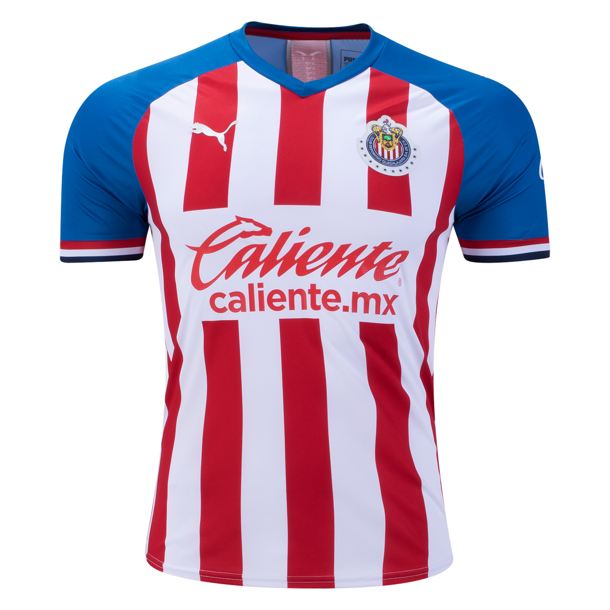 Puma Chivas Authentic Home Jersey 19 20 2xl Half Shirts Mx Jersey Soccer Shirts