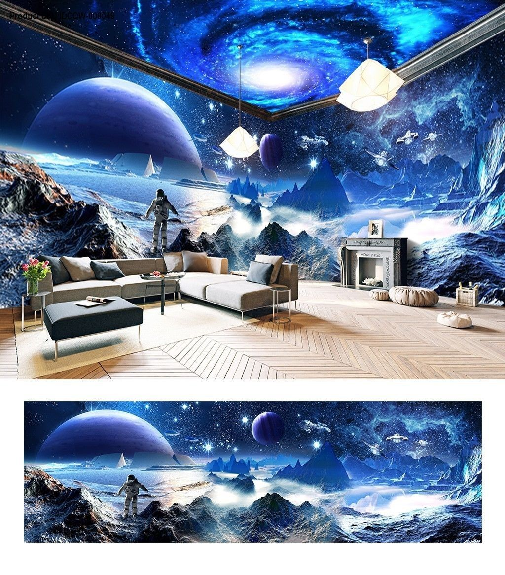 Star Starry Space The Entire Room Wallpaper Wall Mural