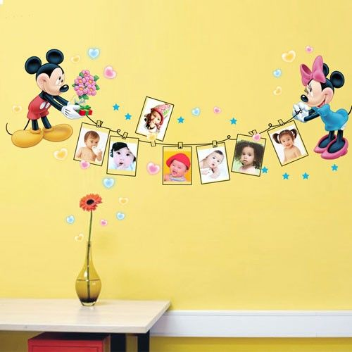 Disney Mickey U0026 Minnie Mouse Photo Frame Wall Decal Part 14