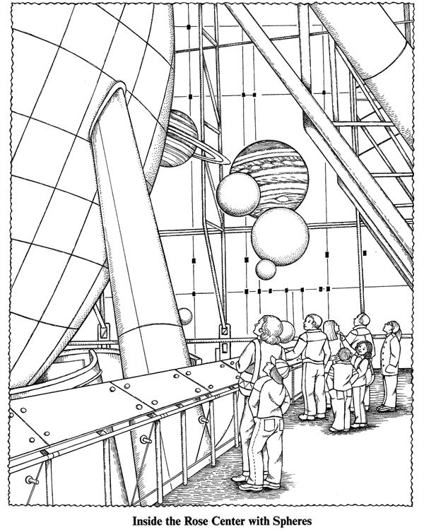 Exploring The American Museum Of Natural History A Children S Guide With Pictures To Color Dover Coloring Pages Coloring Books Science Illustration