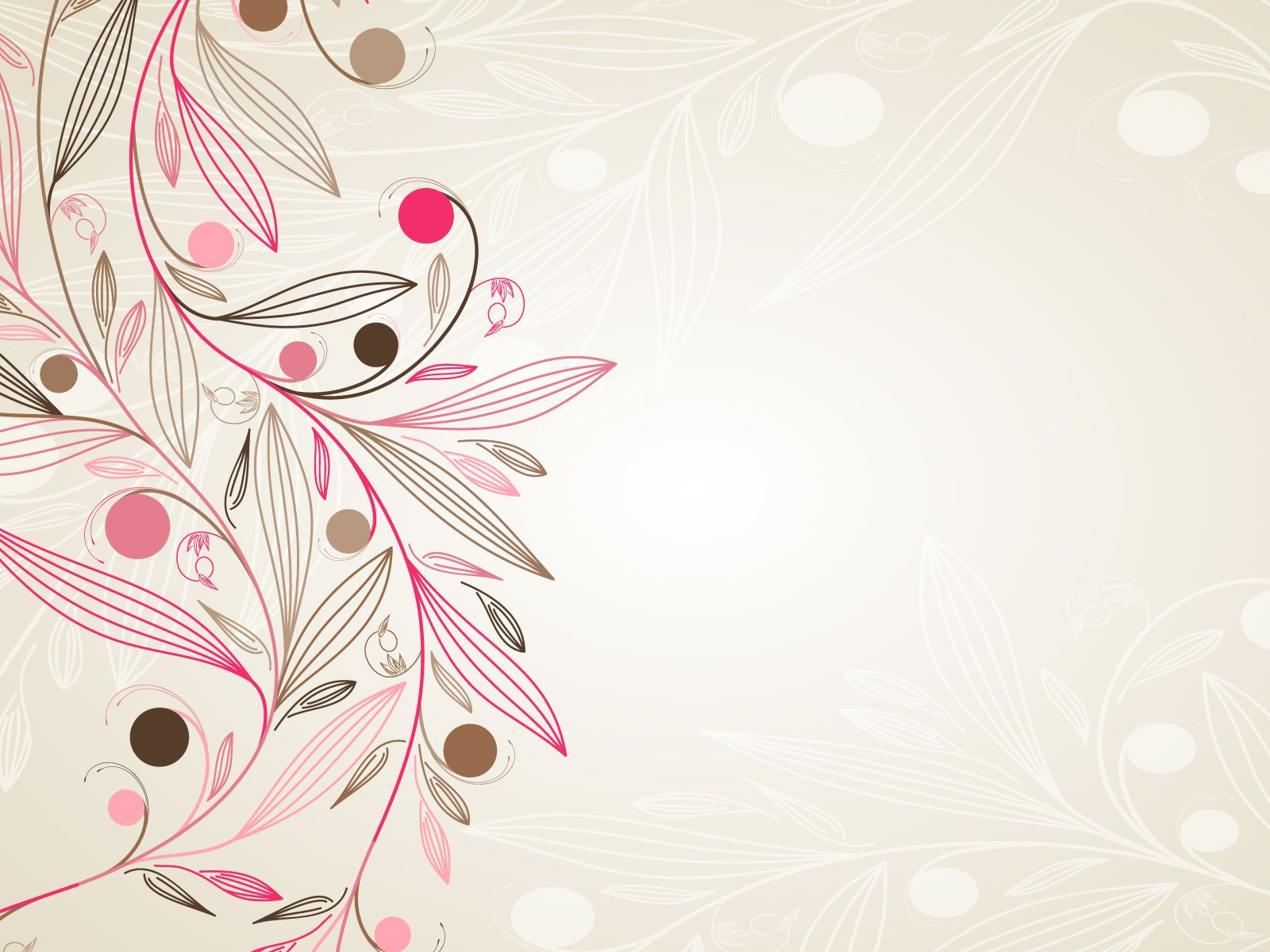 floral simple download powerpoint backgrounds - ppt backgrounds, Powerpoint templates