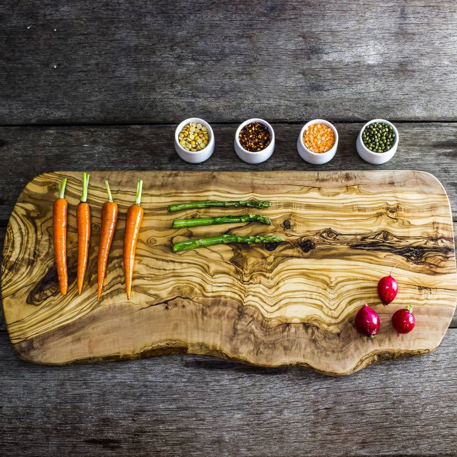 Make your cheese plate simply stunning diy wood slice cutting board - This Large And Beautifully Rustic Olive Wood Board Makes A Stunning Carving And Serving Platter For