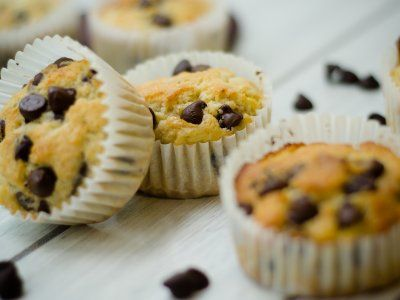 Receta de Muffins de Plátano y Chispas de Chocolate