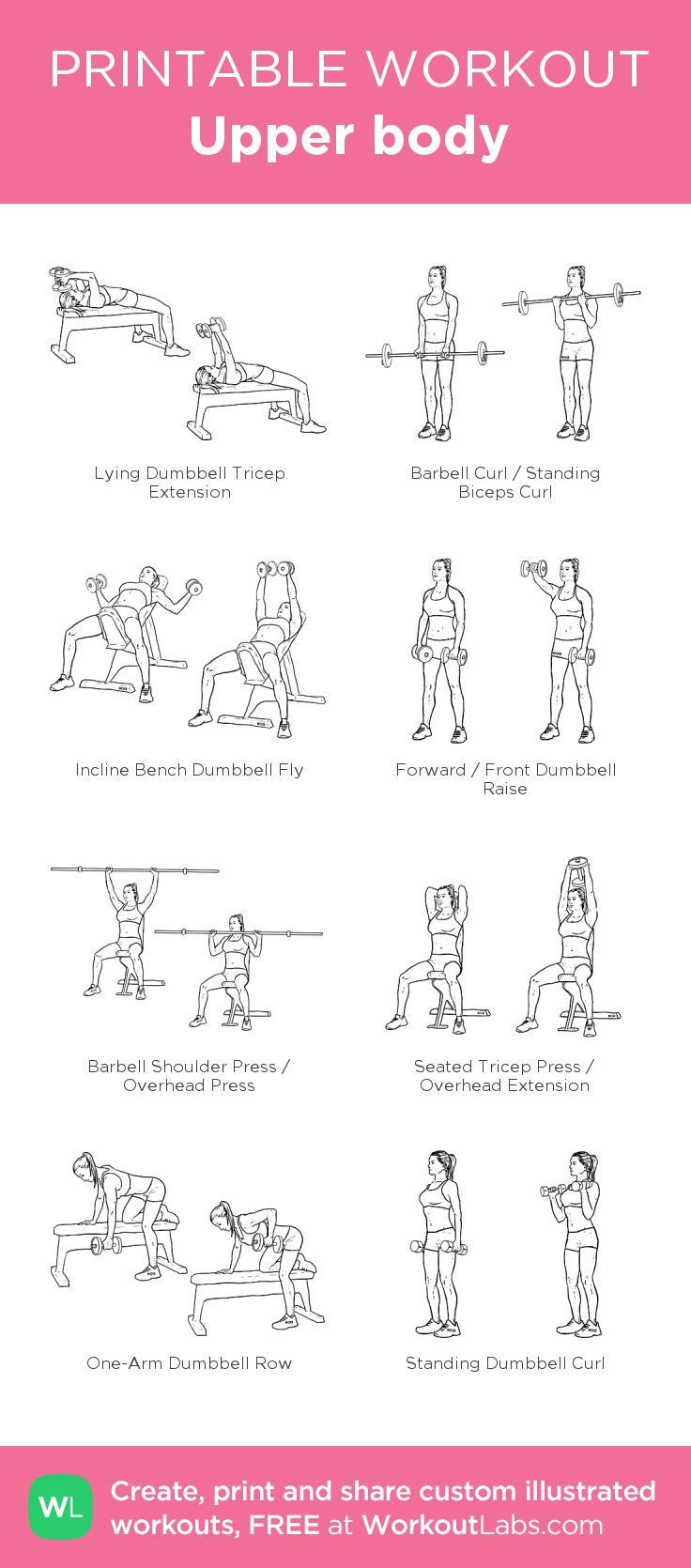 Upper body · Free workout by WorkoutLabs Fit