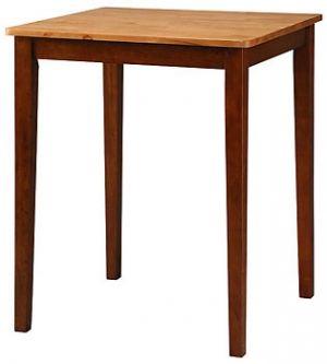 """Solid Parawood Cinnamon 30"""" Square Counter Table in Cinnamon & Light Espresso Finish $180"""