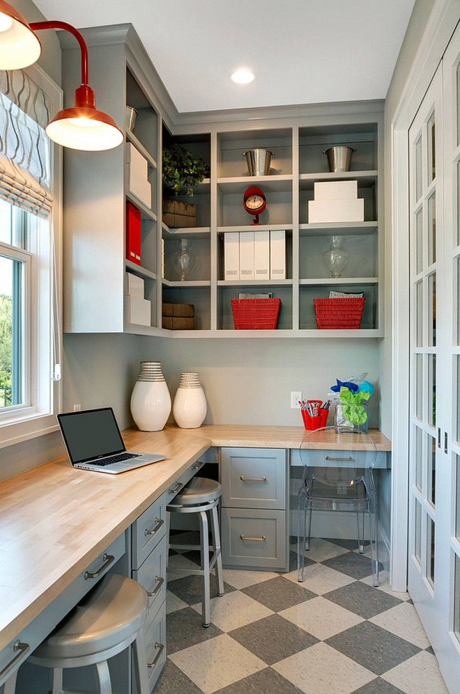 A Colorful And Fun Florida House Tour Small Home Offices Home Office Layouts Pantry Design