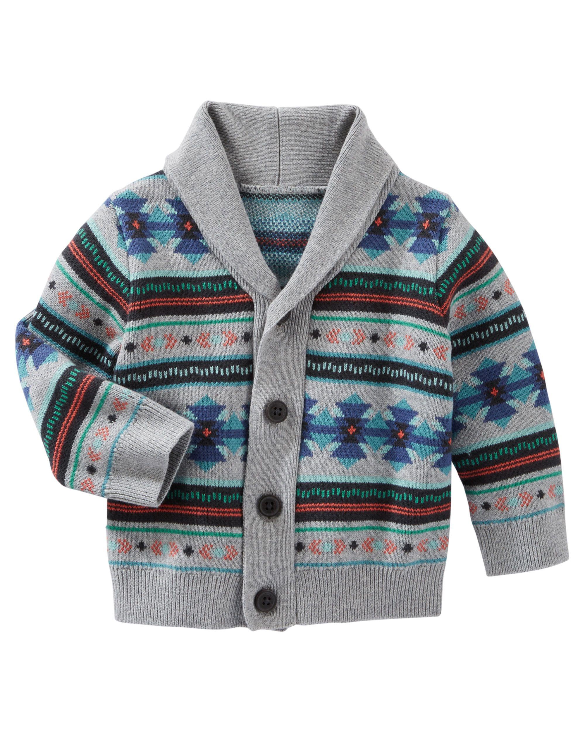 Fair Isle Shawl Collar Cardigan | Shawl collar cardigan, Boys and ...