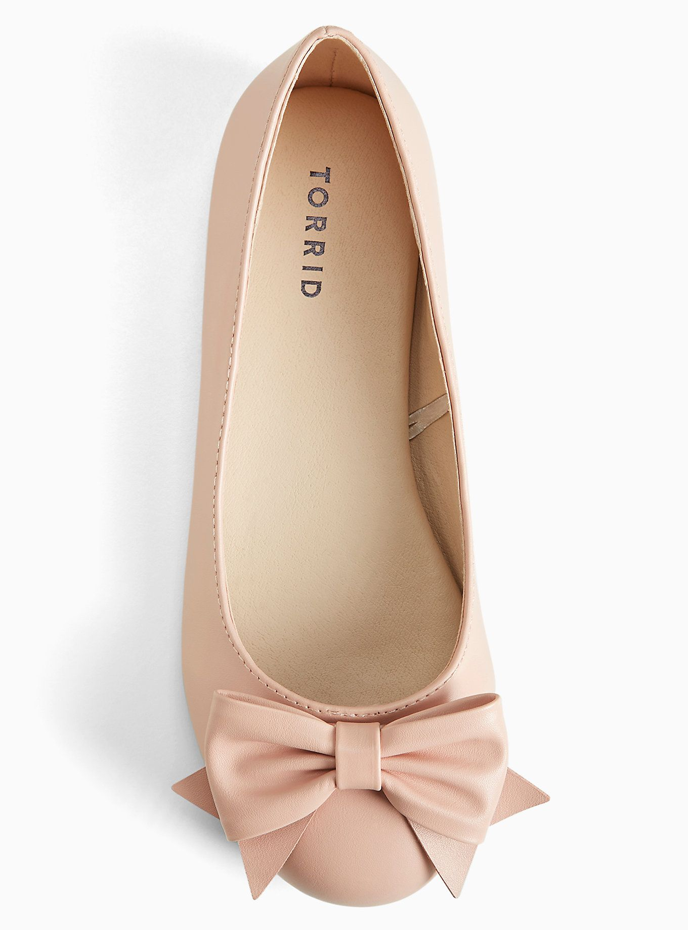 Bow Round Toe Ballet Flats (Wide Width