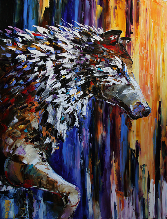 68a046058 Morning Hunt, Contemporary Wolf Paintings by Texas Artist Laurie Pace @Laurie  Pace #art