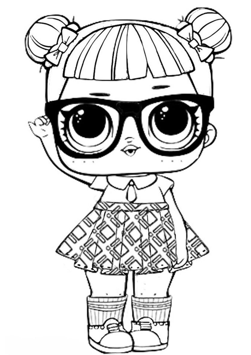 15+ L.O.L Series 1 Coloring Pages for Kids. More printable pictures on  BabyHouse.info! Teacher's Pet - fre… | Cool coloring pages, Lol dolls,  Unicorn coloring pages