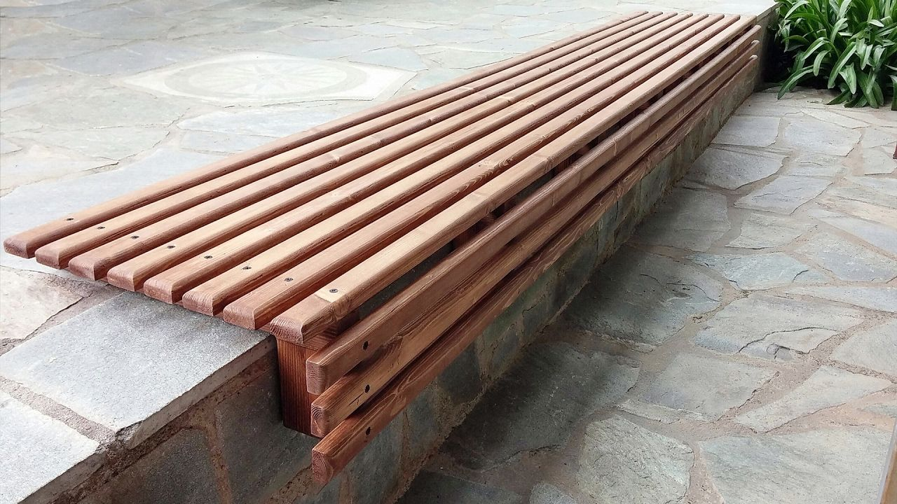 Fabulous Diy Outdoor Wooden Slat Bench Seat How To Woodworking Short Links Chair Design For Home Short Linksinfo
