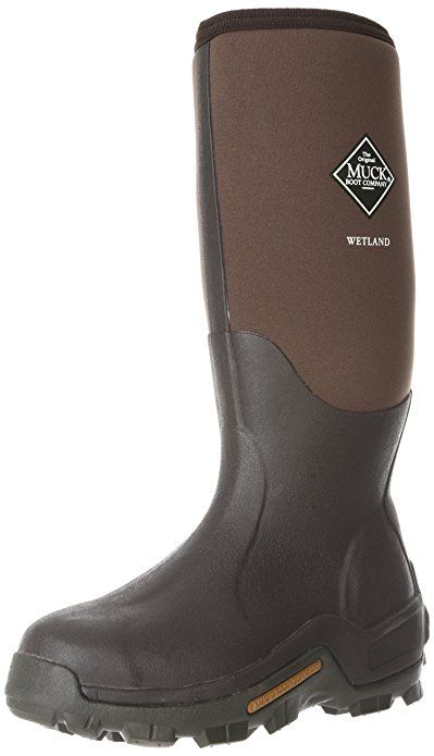 Men's Muck Boot Company Waterproof Wetland Rubber Hunting Boots Bark, BARK,  *** Details can be found by clicking on the image.