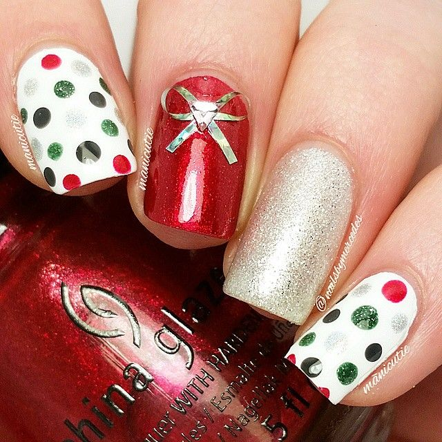 Adding an embellishment to your holiday mani creates a unique look holiday nails christmas nails you can do embellishments unique diy nails galleries holidays winter solutioingenieria Choice Image