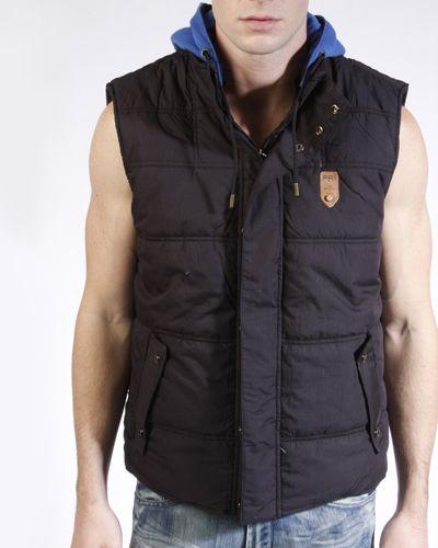 Projek Raw Black Hooded Vest $95
