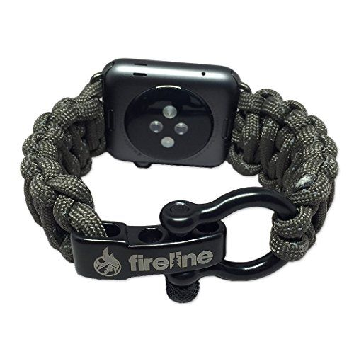Tactical Paracord Apple Watch Band Fireline 42mm Replacement