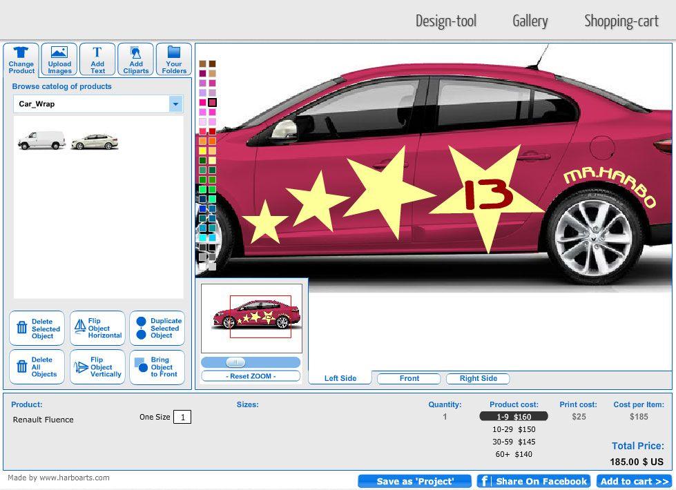 Get online car wrap design software setup on your for Truck design software