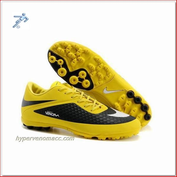 Free Soccer Shoe Clipart Nike HyperVenom Phantom TF ACC Astro Turf Yellow  Black