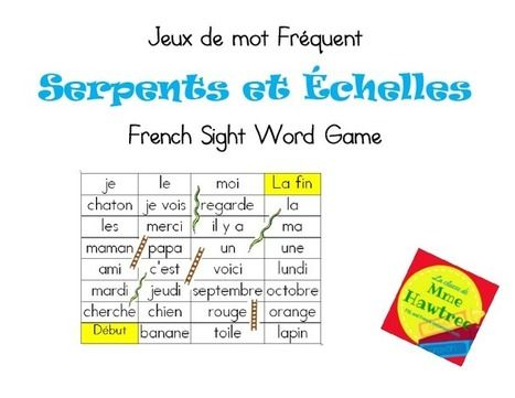 Primary French Immersion Education Sight Words Sight Word Games Word Games