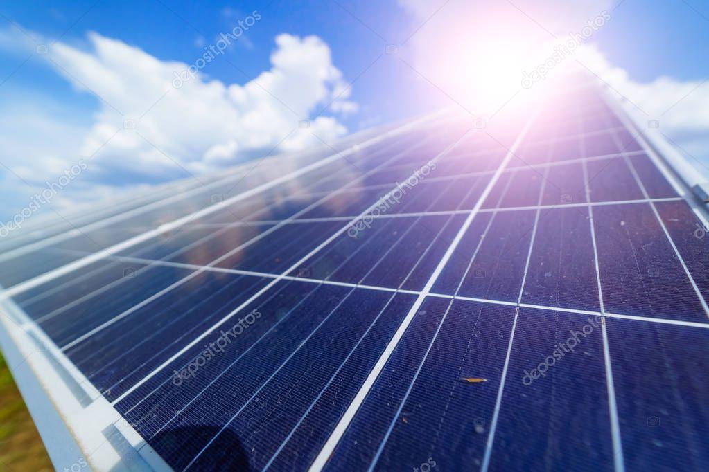Solar Panel On Blue Sky Background Alternative Energy Concept Stock P Affiliate Blue Sky Solar Panel Ad
