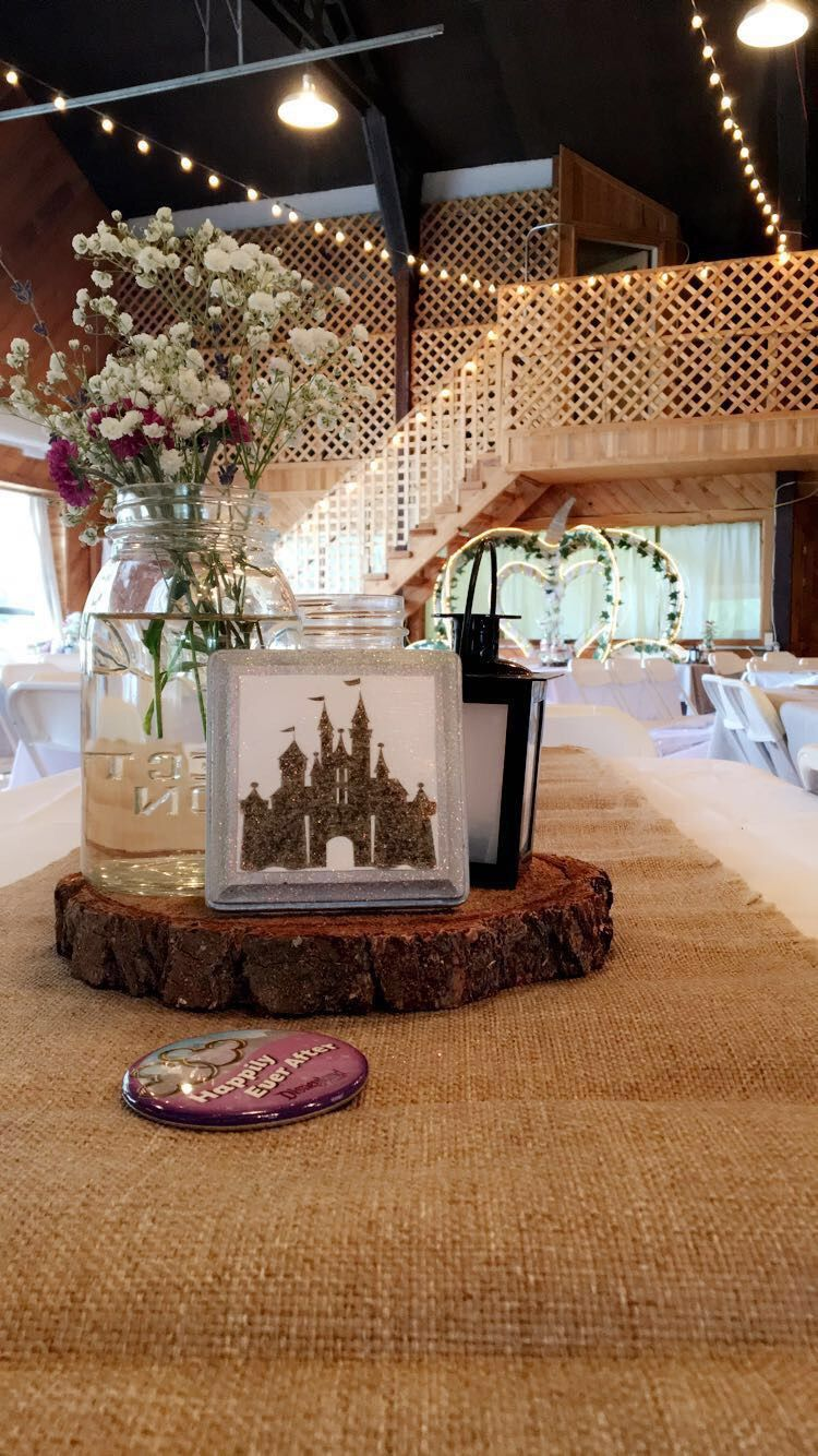 Disney Wedding Each Part Of The Centerpieces Were Diy Disney