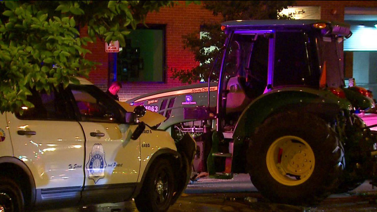 Man accused of stealing tractor leading police on chase