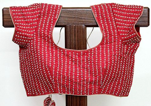 Embroidered Red Blouse – Desically Ethnic