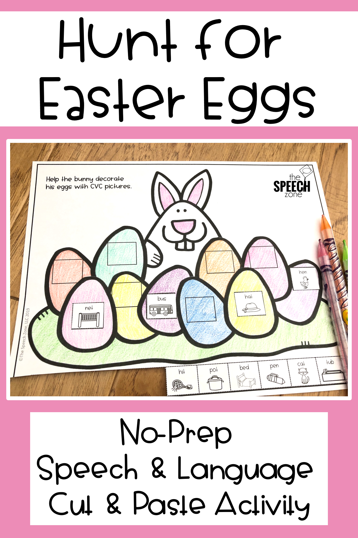 Speech And Language Spring Egg Decorating Activity