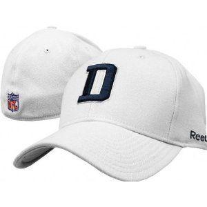 d6b5b82dc Dallas Cowboys NFL Reebok Coaches Sideline Flexfit White Hat (L/XL ...