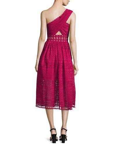 6505ce3723a2 TVP7R Self-Portrait One-Shoulder Cutout Midi Dress