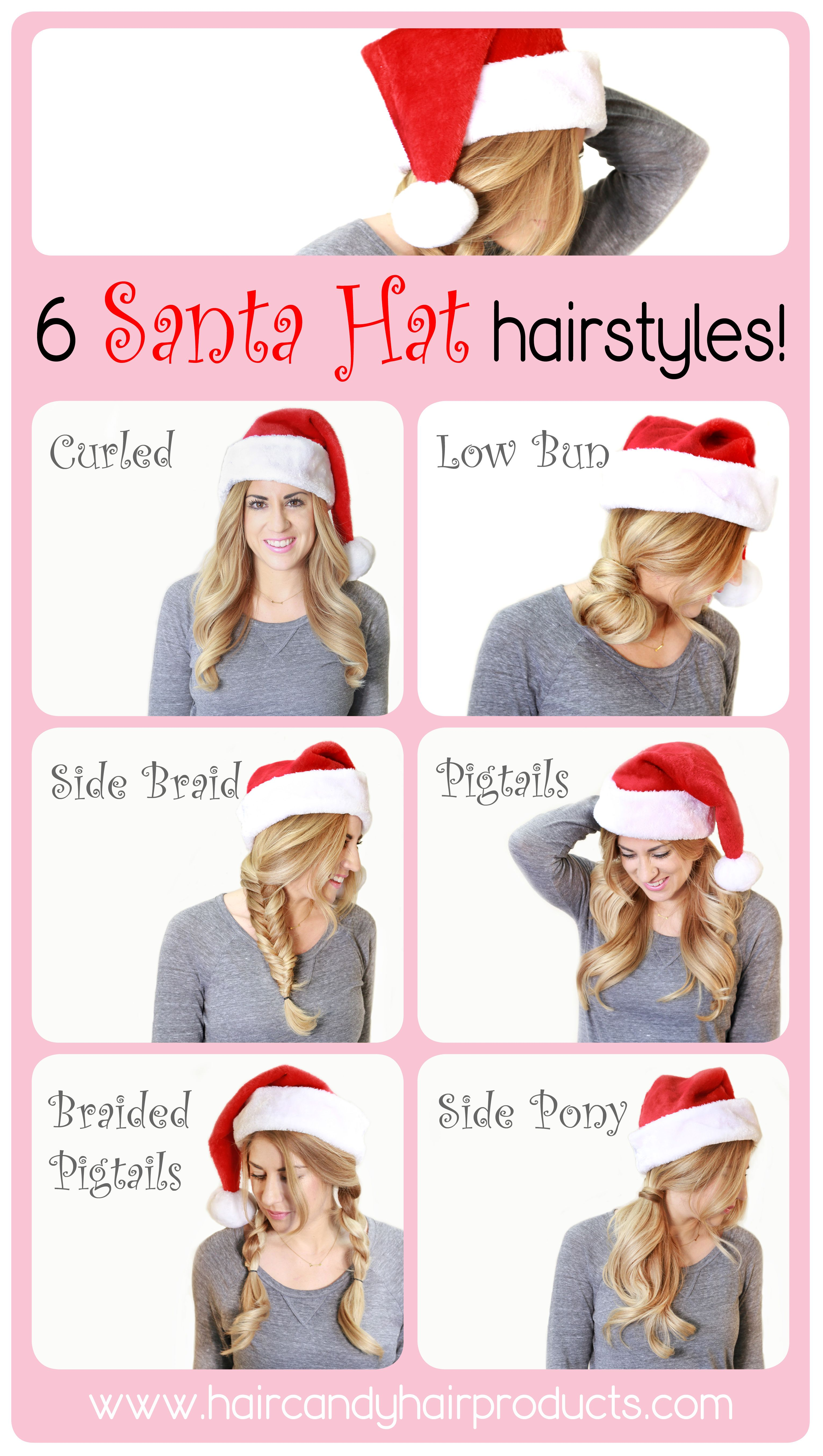 7711fc455a2 Santa Hat Hairstyles - Hair Candy