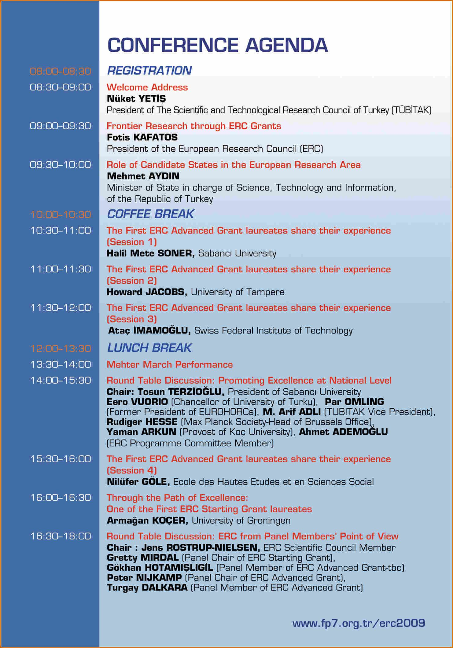 10  conference agenda template