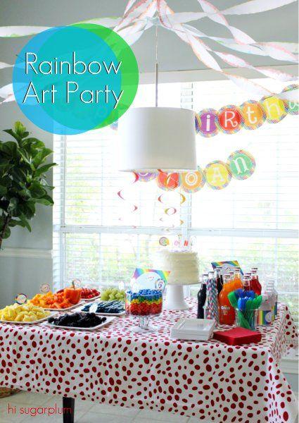 Rainbow Art Party From Hi Sugarplum Birthday Parties Special