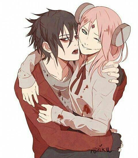 Halloween Anime Boy And Girl Couple Naruto Sasusaku Anime Naruto Sakura And Sasuke