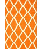 RugStudio presents Nuloom Flatweave Pop Trellis Orange Flat-Woven Area Rug