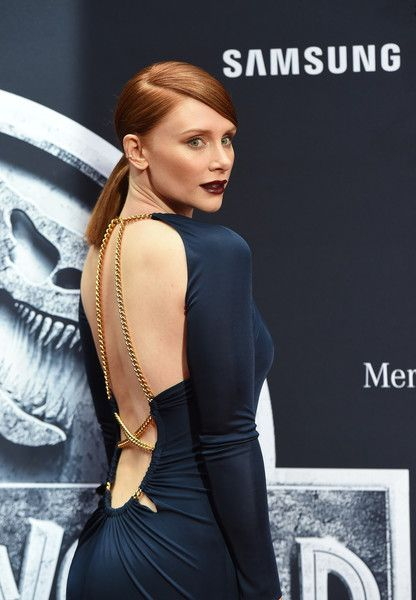 Bryce Dallas Howard Lookbook: Bryce Dallas Howard wearing Emilio Pucci Cutout Dress (5 of 28). Bryce Dallas Howard turned up the heat at the 'Jurassic World' premiere in a slinky navy cutout gown by Emilio Pucci.