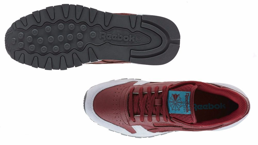 c6fb057ea995 Men s Reebok CLASSIC LEATHER GN Burgundy Cloud Grey Alloy Teal Green BD4413   Reebok  BD4413