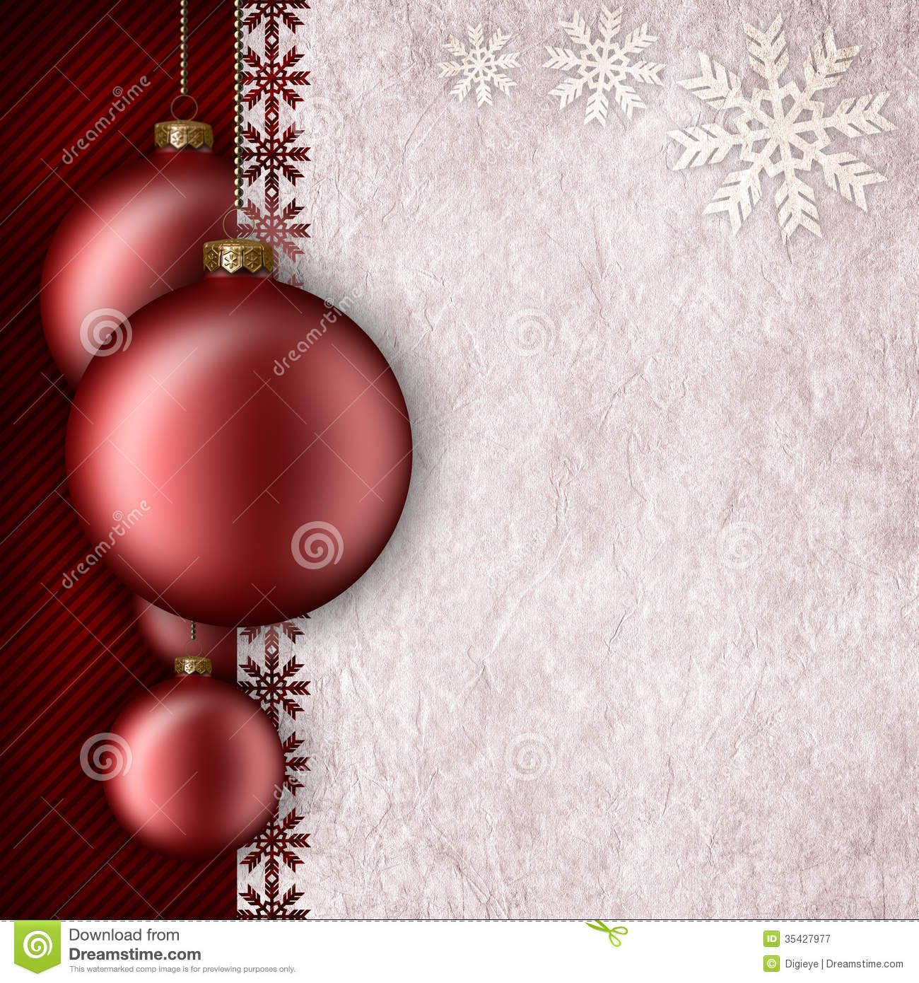 Superb Photo About Christmas Background Template   Baubles And Blank Space For  Text   35427977 Within Blank Christmas Templates