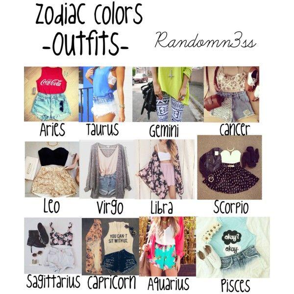 Zodiac Colors ,outfits,