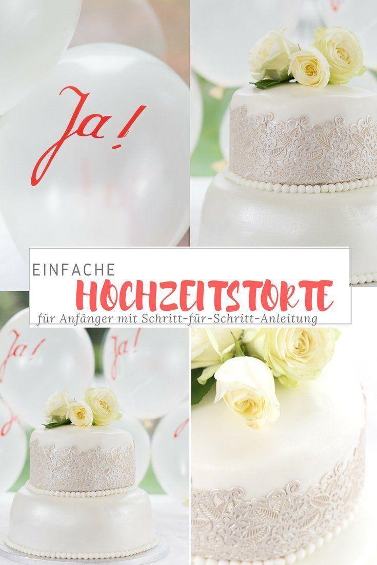 Fondant Torte Rezept Einfache Hochzeitstorte Mein Blog A
